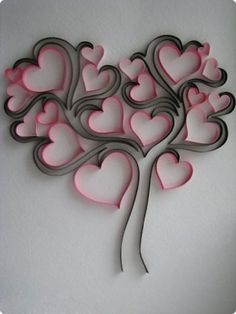 Do All Sorts of Fun with Paper Quilling and Quilling Art Trees? Arte Quilling, Origami And Quilling, Quilling Paper Craft, Toilet Paper Roll Art, Toilet Paper Roll Crafts, Diy Paper, Quilling Patterns, Quilling Designs, Diy And Crafts