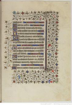 HORAE Beatae Mariae Virginis. Ms. in-4 sur vélin de 171 f. (haut. 212 ; larg. 148 mm.), velours r., tr. dor. (Rel. moderne.) | Gallica