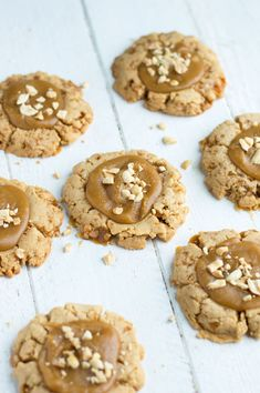 Virginia // The crunch from these peanut brittle cookies can't be beat and they're a great way to use up leftover brittle from the holidays!