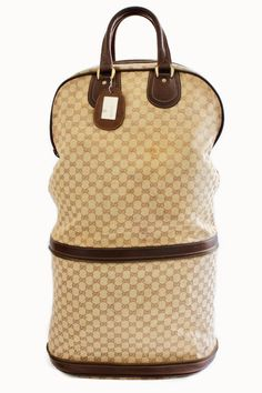75c174cd05cf Gucci Supreme Canvas and Leather Steamer Bag Keepall Expandable Luggage  1970s #Gucci #SteamerBag Steamer