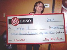 Congratulations to Linda - She won $17,259 playing Big Red Keno in OMAHA!