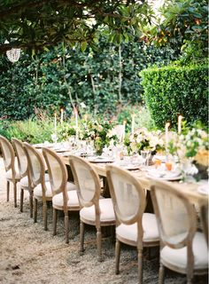 A Sophisticated Wedding at San Ysidro Ranch | 6 of the Most Stylish Outdoor Weddings We've Seen via @mydomaine