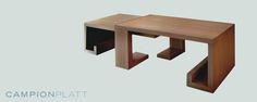 *Resting Coffee Tables* A set of interlocking stained ash tables