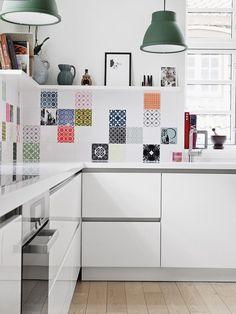 white apartment kitchen