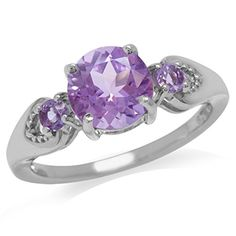 1.91ct. Natural Amethyst White Gold Plated 925 Sterling Silver Engagement Ring Size 6 >> See this awesome image  : Engagement Ring