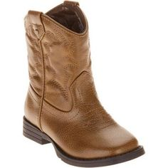 Faded Glory Toddler Boys' Cowboy Boot, Size: 10, Brown