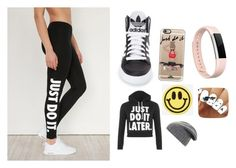 """Just do it"" by zaicute on Polyvore featuring NIKE, adidas, WearAll, Casetify, Big Bud Press, BCBGMAXAZRIA and Fitbit"