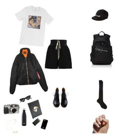 """roadtrip"" by blackcatmeow ❤ liked on Polyvore featuring Rick Owens, YOHJI YAMAMOTO POUR HOMME, Le Specs, Maria La Rosa, Vetements, D.L. & Co., S'well, Givenchy, Maison Kitsuné and SoGloss"