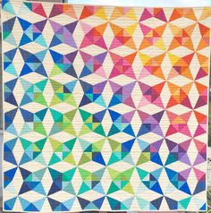 A bounty of color - made from the Summer Breeze quilt pattern!
