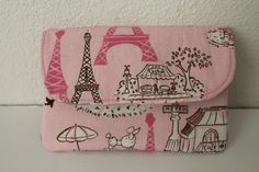 Pink Paris Poodle Eiffel Tower Basic Wallet with 2 by sewTootsie, $12.00