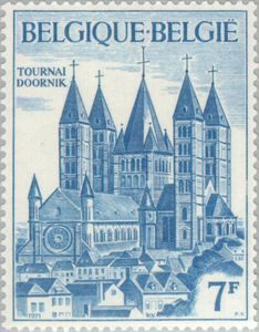 Cathedral of Tournai -  Doornik