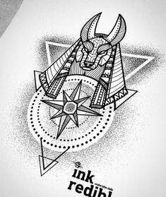Lines and Dots Anubis Tattoo Design Gott Tattoos, Leg Tattoos, Black Tattoos, Body Art Tattoos, Tattoo Drawings, Sleeve Tattoos, Mens Hip Tattoos, Tattos, Anubis Tattoo