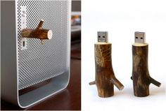 WOODEN USB STICKS - http://www.gadgets-magazine.com/wooden-usb-sticks/
