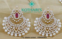 Diamond earrings latest jewelry designs - Page 5 of 53 - Indian Jewellery Designs Gold Jewelry Simple, Stylish Jewelry, Fashion Jewelry, Jewelry Design Earrings, Gold Earrings Designs, Hoop Earrings, Gold Bangles Design, Gold Jewellery Design, Diamond Earrings Indian