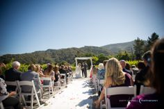 A ceremony down the vineyard road. The Santa Lucia mountain range provides an amazing backdrop.  Plan your wedding at Chateau Julien!  http://www.chateaujulien.com/meeting-events-venues/planning-your-event