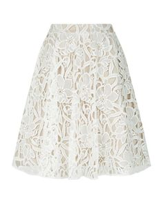 Alice + Olivia | White Earla Floral Crochet Skirt | Lyst