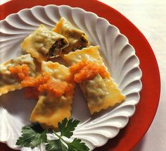 Maultaschen filled with Spinach and Beef - German Recipes - German Food | Best German Recipes and German Food