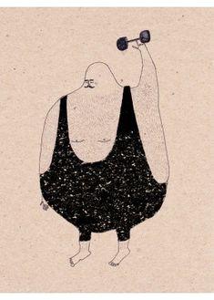 Anna Maria Lubinska - Strong - Hairy Athlete - L'Affiche Moderne