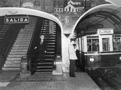 Subway train headed to the Plaza Italia Station in Buenos Aires, November Photograph by Luis Marden, National Geographic National Geographic Archives, Weight Training For Beginners, Old Train Station, Train Stations, Train Art, Neoclassical Architecture, Most Beautiful Cities, Cool Photos, Street View
