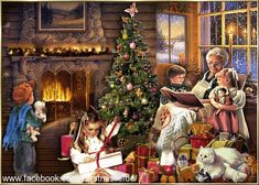 The Fatal Gift of Beauty : Photo Old Time Christmas, Old Fashioned Christmas, Christmas Scenes, Noel Christmas, Victorian Christmas, Winter Christmas, Christmas Things, Vintage Christmas Images, Whimsical Christmas