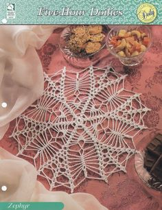 Spider Web Doily Crochet Pattern - Perfect for Halloween
