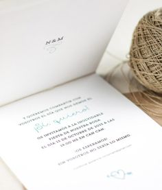 "Invitación de boda ""Yes I do"" 