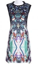 Retro Geometric Print Sleeveless Zip Back Dress $56.4