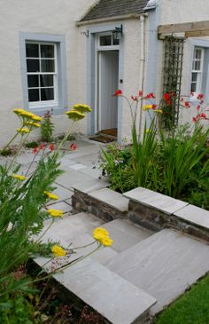 Farm House Garden In The Scottish Borders By Joy Grey Goose Green Design