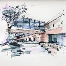 Znalezione obrazy dla zapytania modern architecture sketch