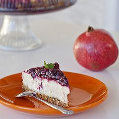 Berry Cheesecake with a bit of Pomegranate twist #foodgawker