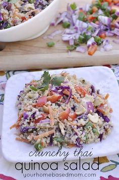 Thai Peanut Quinoa Salad - perfect texture for this salad.  Delicious and healthy- win/win!