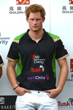 Prince Harry at the Golden Metropolitan Polo Club Charity Cup held at Beaufort Polo Club