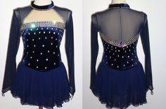 COMPETITION DRESS TS341 [TS341] - $159.95 :: Tina's Skate Wear - Custom Make-to-Fit Skating Dresss, Figure Skating Dresses, Baton Twirling/Dance Costumes.