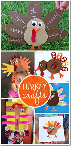 27 Turkey Crafts for Kids - Kids of all ages are going to love all these clever, unique, and super cute Thanksgiving crafts for kids. (preschool, prek, kindergarten, 1st grade, 2nd grade, crafts for kids)