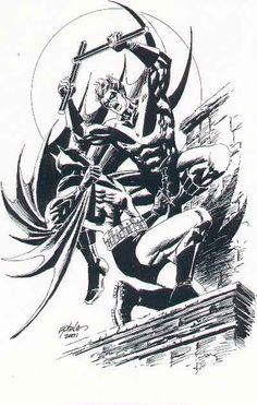 Nightwing vs Batman by Steve Epting