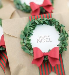 DIY Mini Boxwood Wreath Gift Labels for your Homemade Christmas Gifts
