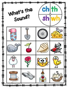 Printables Collect The Pictures That Begin Ch And Sh digraphs th ch wh and sh words activities searching ph 12 gamebaords