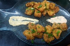 CRUMBED FISH NUGGETS …2 WAYS !! Fish Nuggets, Chicken Stuffed Peppers, Tandoori Chicken, Butter, Cooking Recipes, Ethnic Recipes, Food, Cooker Recipes, Chef Recipes