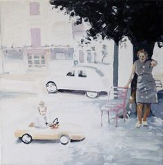 driving by - painting by Cécile Vrinten