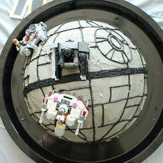 Star Wars Death Star Birthday Cake Tutorial - Crafted by Lindy