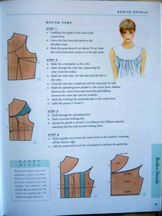 Dress Sewing Patterns, Doll Clothes Patterns, Sewing Clothes, Clothing Patterns, Pattern Drafting Tutorials, Sewing Tutorials, Sewing Projects, Bodice Pattern, Collar Pattern