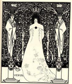 Artist: Aubrey Beardsley Style: Art Nouveau (Modern) Genre: illustration Technique: pen, ink Dimensions: 17.8 x 21.9 cm Gallery: Cecil Higgins Art Gallery