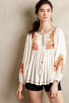 Floreat Austral Peasant Blouse #anthrofave