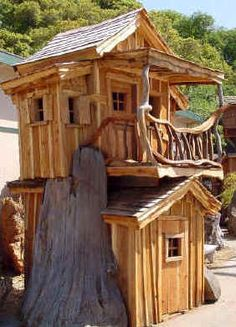 Tree Houses by Blanchard's Wood Sculptures