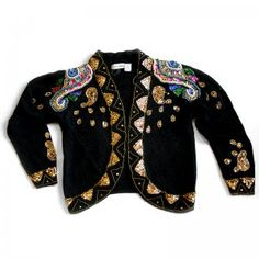 Toro! Bullfighter jacket style gem sweater from The Ugly Sweater Shop $18