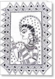 Image result for mithila art black and white