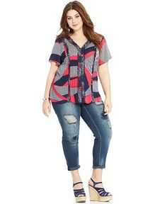 Hipster Plus Size Jeans for Women
