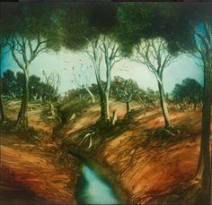 Pro Hart Fine Art Auctions, Charleston, River, Painting, Outdoor, Outdoors, Painting Art, Paintings, Outdoor Games