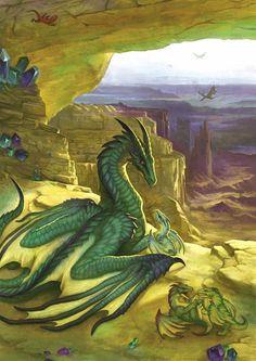 Dragon Family, Dragon Dreaming, Cool Dragons, Dragon's Lair, Dragon Artwork, Dragon Pictures, Dragon Pics, Dragon Rider, Green Dragon