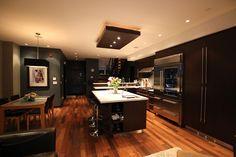 Black kitchen.